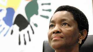 17/02/2012. Minister of Social Development, Bathabile Dlamini during a Media briefing held in Southern Sun Hotel yesterday.   Picture: Thobile Mathonsi