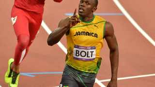 LONDON, ENGLAND - AUGUST 5, Usain Bolt of Jamaica in the mens 100m final during the evening session of athletics at the Olympic Stadium  on August 5, 2012 in London, England Photo by Roger Sedres / Gallo Images
