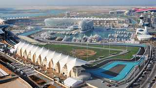 An aerial view of the stunning Yas Marina circuit, scene of this weekends Abu Dhabi Grand Prix. Image: Supplied.