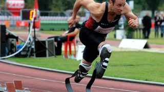 Murder-accused Paralympian Oscar Pistorius has resumed track training, but remains focused on the court case ahead of him, his family said on Pistorius's website. File photo: AP