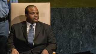 Swaziland's King Mswati III at the United Nations headquarters in New York. Picture: Ray Stubblebine/Reuters