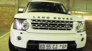 A white Land Rover belonging to a senior RTMC official carries number plates that do not exist on the AARTO system.  Picture: Tim West 08.05.2013