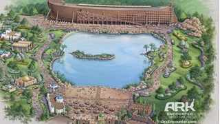 An artist rendering provided by Answers in Genesis, the ministry founded by creationism proponent Ken Ham, shows the proposed 'Ark Encounter' theme park.