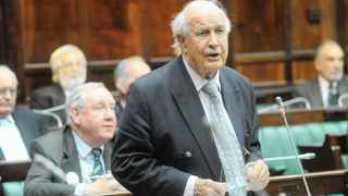 INFLUENTIAL: Colin Eglin speaking at the old Assemby in Parliament in 2009. Eglin argued that a failure to address rising inequality subverts the constitutional vision for provisions made for a range of basic social and economic rights to housing, water, education and medical care, says the writer.