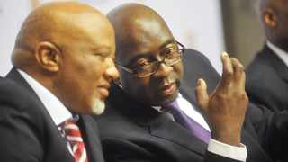 Cape Town. 141022. Finance Minister Nhlanhla Nene at the Mid Term Budget Policy Statement(MTBPS) today at Parliament. Pic COURTNEY AFRICA