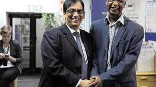 Dr Iqbal Surv� announces the appointment of Wally Mbhele as Editor at Large for Sunday Publications in the Independent Media group. Photo: Matthews Baloyi