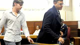 Cape Town 141127. Three man who assaulted Delia Adonis, a cleaner at Tiger Tiger night club  appeared at Wynberg magistrate court. Picture Cindy waxa.  From (L-R) is Mitchell Turner , Aaron Mack and Chad De  Matos. Reporter Kieran