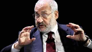 Nobel Prize in Economics recipient Joseph Stiglitz answers questions during a Q and A session at the World Business Forum in New York, U.S., Wednesday, Oct. 6, 2009. Photographer: Craig Ruttle/Bloomberg News
