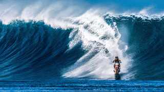 It took two years and countless splashy failures before Robbie Maddison was able to realise his pipe dream of surfing Tahitis perfect waves.