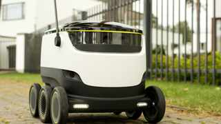 In early 2016, Starship Technologies will conduct a pilot test of this self-driving delivery robot.  Starship Technologies  says the 40-pound robot could make local deliveries in 30 minutes or less. MUST CREDIT: Starship Technologies.