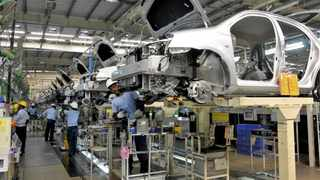 A Toyota Etios on the production line in Bidadi. File picture: Abhishek N Chinnappa / Reuters.