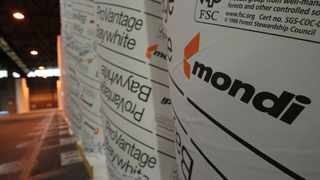 Branded rolls of paper are seen at a Mondi production facility. File picture: Simphiwe Mbokazi