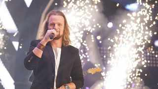 Richard Stirton is announced as the first winner of The Voice SA. Photo: M-Net