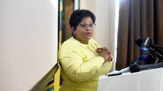 536 23/05/2016 ANC head of elections and campaign also minister of water and sanitation Nomvula Mokonyane at a ANC media briefing at Parktown. Picture:Nokuthula Mbatha