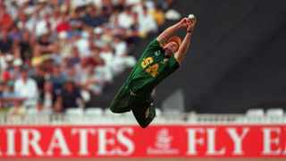 FILE PHOTO - Proteas legend Jonty Rhodes will lead the South African team at the Over-50 World Cup in Cape Town next year. Photo: Adrian Murrell/ALLSPORT