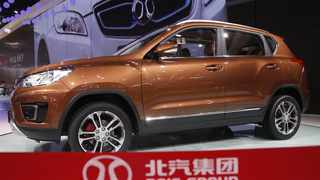 BAIC produces a wide range of passenger vehicles, including the Senova X35 SUV pictured here. Image: Kim Kyung-Hoon / Reuters.