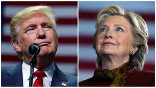 White House hopefuls Donald Trump and Hillary Clinton have encouraged their supporters to vote on Election Day. File pictures: Carlo Allegri and Carlos Barria