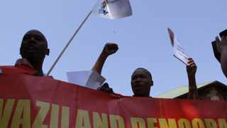 Members of the Communist Party of Swaziland. The party on Thursday said it would continue to stand with eSwatini's striking workers in their demand for justice. File photo: AP Photo.