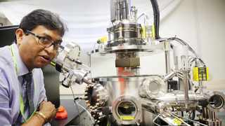 Dr Mathew Moodley at the launch of the Laser Chemical Vapour Deposition and Thin Films lab at the UKZN Westville campus. Picture: Motshwari Mofokeng