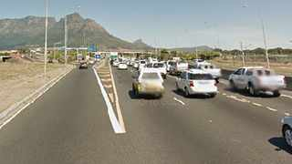 Gang of teen robbers place logs on Jan Smuts Drive off-ramp in order to rob motorists. Picture: Jack Lestrade / ANA