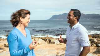 Dr Marjolaine Krug, a senior researcher at the Council for Scientific and Industrial Research, left, and oceanographer Heriniaina Juliano Dani Ramanantsoa, from UCT.