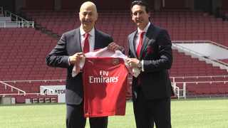 Unai Emery (right) was appointed as Arsenal's new coach in May. Photo: PA Images