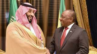 President Cyril Ramaphosa meets Crown Prince Mohammed bin Salman in Jeddah during his state visit to the Kingdom of Saudi Arabia. Picture: Kpano Tlape/GCIS
