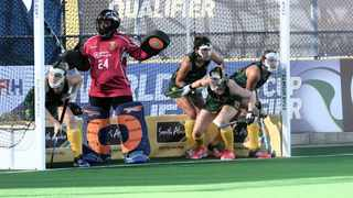 The South African Women's hockey team ended their campaign on a high with a draw against Argentina. Photo: Aubrey Kgakatsi/BackpagePix