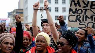 #TheTotalShutdown march against gender violence in Cape Town on Wednesday.  Picture:Ayanda Ndamane/ African News Agency (ANA)