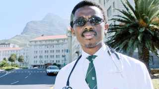 TRAGIC: Professor Bongani Mayosi, in front of Groote Schuur Hospital in Cape Town.