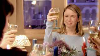 Rene Zellweger as the white-wine-guzzling Bridget Jones in the movie of the same name.