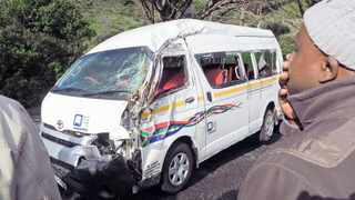 A minibus taxi involved in an accident. The Association for the Protection of Road Accident Victims has called on the government to declare the Road Accident Fund an essential service during the lockdown. Picture: David Ritchie/African News Agency/ANA