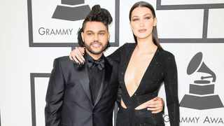 The Weeknd and Bella Hadid. Picture: AP