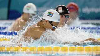 Michael Houlie won gold in the 50m breaststroke at the Youth Olympic Games in Buenos Aires. Photo: Ian Walton/IOC/EPA-EFE