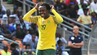Percy Tau finished off a wonderful through-ball from Thulani Serero to score against Paraguay. Photo: BackpagePix