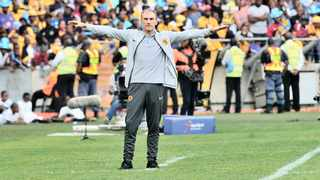 Giovanni Solinas, now coach of Kaizer Chiefs, reacts during the Telkom Knockout semi-final defeat against Orlando Pirates. Photo: BackpagePix