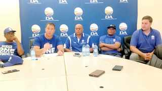 The DA chief whip, John Steenhuizen, who has been in Kimberley, addressed the media at the Northern Cape Provincial Legislature. Picture: Norma Wildenboer/African News Agency (ANA)