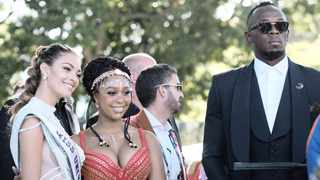 Miss Universe Demi Leigh Nel-Peters, celebrity Minnie Dlamini and at last year's Sun Met.   Ian Landsberg African News Agency (ANA)