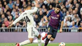 El Clasico was due to be played at Barca's Camp Nou stadium on Saturday, but was postponed following a request from La Liga due to extraordinary circumstances. Photo:  Rodrigo Jimenez/EPA