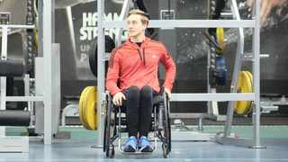 Brandon Beack, 23, was paralysed in a gymnastics accident and is now training to qualify for the Paralympic Games. Picture: Keagan Mitchell
