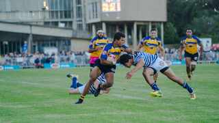 Kurt-Lee Arendse in action for UWC in the 2019 Varsity Cup. Photo: Kevin Sawyer/Varsity Cup