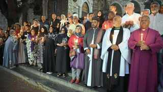 St George's Cathedral held a candle lighting ceremony remembering the 50 people killed in the bloody New Zealand mosque attack on Friday. Photo: Phando Jikelo / African News Agency (ANA)