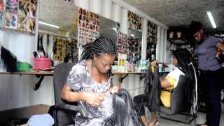 STYLIST Cynthia Obuchukhwe at her salon in Cape Town. Small businesses need support to survive as only 15% of the country's businesses are successful, according to a recent study.     Ayanda Ndamane African News Agency (ANA)