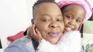 Chiedza Sjambok cuddles 1-year-old Britney, who died after she was hit by a car in Johannesburg. Picture: Supplied