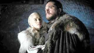 """This image released by HBO shows Emilia Clarke  and Kit Harington in a scene from """"Game of Thrones"""". Picture: AP"""