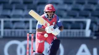 Lions captain Temba Bavuma scored an unbeaten half-century in the semi-final, and will aim to lead his team to victory against the Warriors in the final. Photo: Samuel Shivambu/BackpagePix
