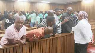 THE eight men arrested for the 2017 attacks in Marikana appeared briefly in the Gauteng High Court, Pretoria, yesterday.     Zelda Venter
