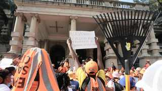 Workers from the Expanded Public Works Programme at the Durban city hall. eThekwini Municipality on Tuesday assured members of the EPWP that the city has not reached any decision to end their employment. File photo: Nqobile Mbonambi/African News Agency (ANA).