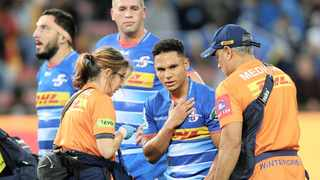 Herschel Jantjies has not recovered from a shoulder injury he sustained against the Sunwolves at the weekend. Photo: BackpagePix