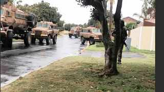 Table View residents were left confused when the army rolled into the neighbourhood without explanation. Picture: Weekend Argus
